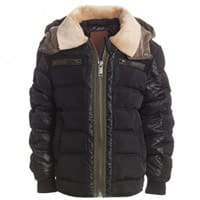 Airforce Boys Black Puffer Jacket