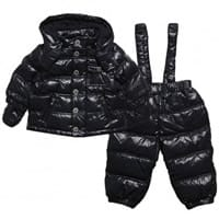Armani Junior Baby Boys Blue Down Padded Jacket & Trousers Set