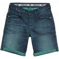 Armani Junior Boys Long Blue Denim Shorts