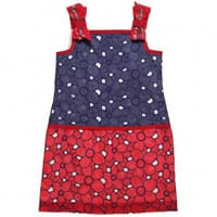 I pinco pallino Navy Blue and Red Broderie Anglaise Dress