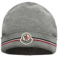 Moncler Baby Boys Grey Cotton Knitted Hat