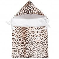 Roberto Cavalli Girls Brown Padded Cotton Baby Nest (75cm)