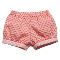 Trussardi Baby Girls Coral-Pink Checked Shorts