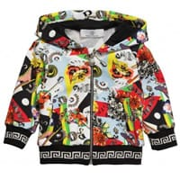 Young Versace Baby Boys Cotton Hooded Sweatshirt