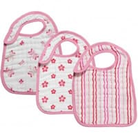 aden & anais Pink Cotton Bib Set (3 Pack)