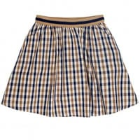 Aquascutum Club Check Cotton Mini Skirt