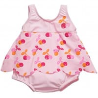 Archimede Baby Girls Cherry Print Swimsuit with Nappy