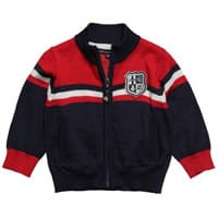 Armata di mare Boy Knitted Zip-Up Cardigan