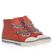 Ash Orange Canvas High-Top Trainers