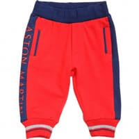 Aston Martin Baby Boys Red Cotton Trousers