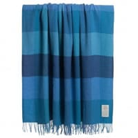 Avoca Blue Lambswool Blanket