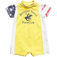 Beverly Hills Polo Club Baby Boys Yellow Cotton Shortie