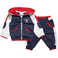 Beverly Hills Polo Club Boys Blue Cotton Tracksuit