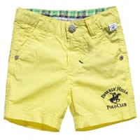 Beverly Hills Polo Club Boys Yellow Cotton Bermuda Shorts