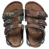 Birkenstock Boys Leather Camouflage Sandals