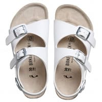 Birkenstock White Sandals with Ankle Strap (Roma)