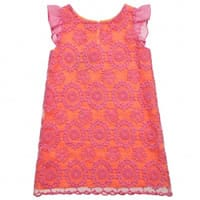 Charabia Pink Organza Embroidered Dress