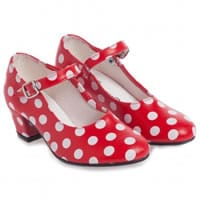 Children's Classics Red Spotty Flamenco Shoes