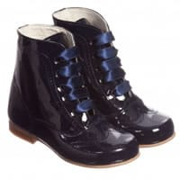 Children's classics Girls Navy Blue Patent Leather Boots