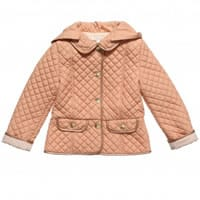 Chloe Girls Pink Quilted Hooded Jacket