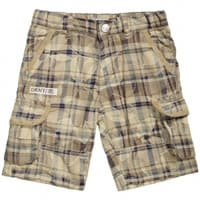 DKNY Boys Beige Long Cotton Shorts