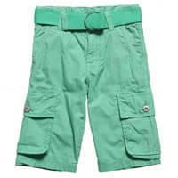 DKNY Boys Green Cotton Long Shorts