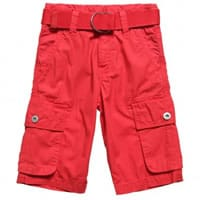 DKNY Boys Red Cotton Long Shorts