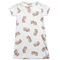 Darcy Brown Girls White Puppy Nightie
