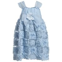 David Charles Blue Floral Chiffon Dress