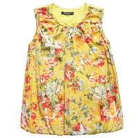Denny Rose Young Girls Yellow Floral Blouse