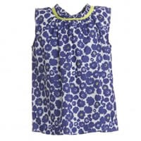Dior Girls Blue Floral Cotton Blouse