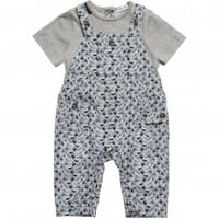 Dolce & Gabbana Italian Vehicles Boys Blue Cotton Romper