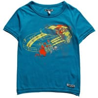 Doll Face & Dirt Boy Boys Blue Cotton Diamante Car Print T-Shirt