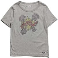Doll Face & Dirt Boy Grey Cotton Ka-Pow T-Shirt