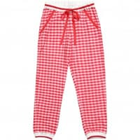 Ermanno scervino Girls Red Cotton Jersey Trousers