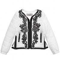 Ermanno scervino Girls White Padded Jacket