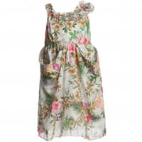 European Culture Floral Cotton Dress with Ruffles