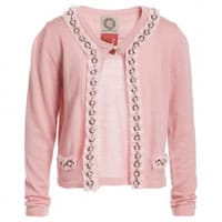From the world Girls Pink Knitted Cardigan