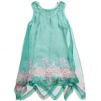 Fun & Fun Green Chiffon and Cotton Dress Set