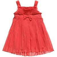 Fun & Fun Orange Pleated Dress