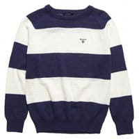 Gant Boys Blue Cotton Knitted Sweater