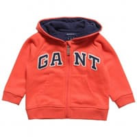 Gant Boys Orange Cotton Hooded Sweatshirt