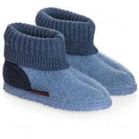 Giesswein Blue Traditional Boiled Wool Slippers