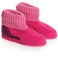 Giesswein Bright Pink Traditional Boiled Wool Slippers