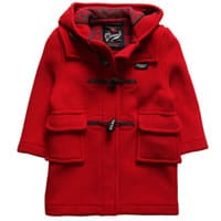 Gloverall Red Wool Duffle Coat
