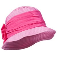 Grevi Pink Grosgrain Sun Hat with Bow