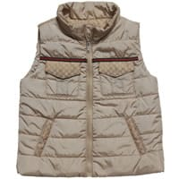 Gucci Boys Beige Lightly Padded Sleeveless Jacket