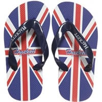 Hacket London Boys Blue Union Jack Flip Flops