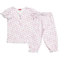 Hanssop Girls Pink Floral Cotton Jersey Pyjamas