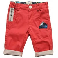 Roberto Cavalli Baby Boys Red Cotton Trousers